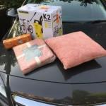 Cushion, throw, bulbs and pressure washer