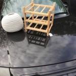 Vase and wine rack