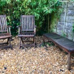 Chairs and bench before transformation
