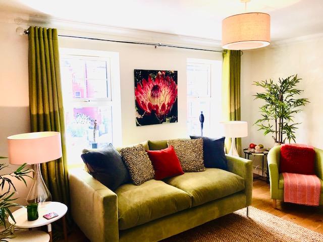 Green and orange lounge scheme