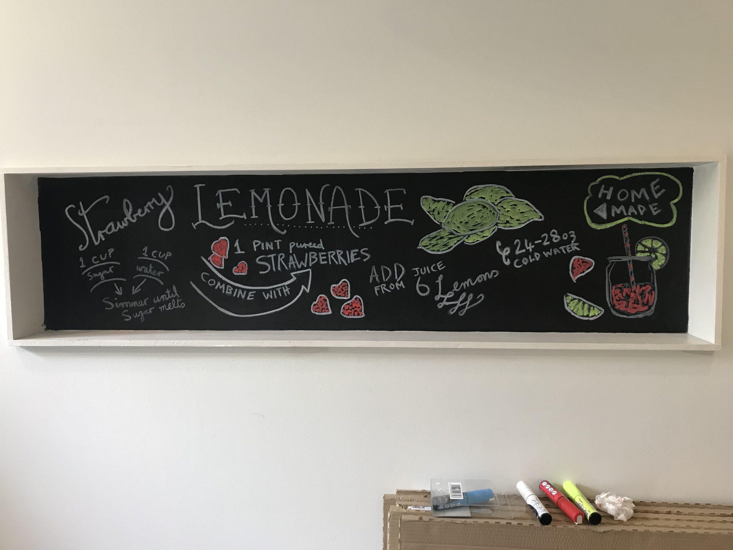 Strawberry Lemonade chalkboard